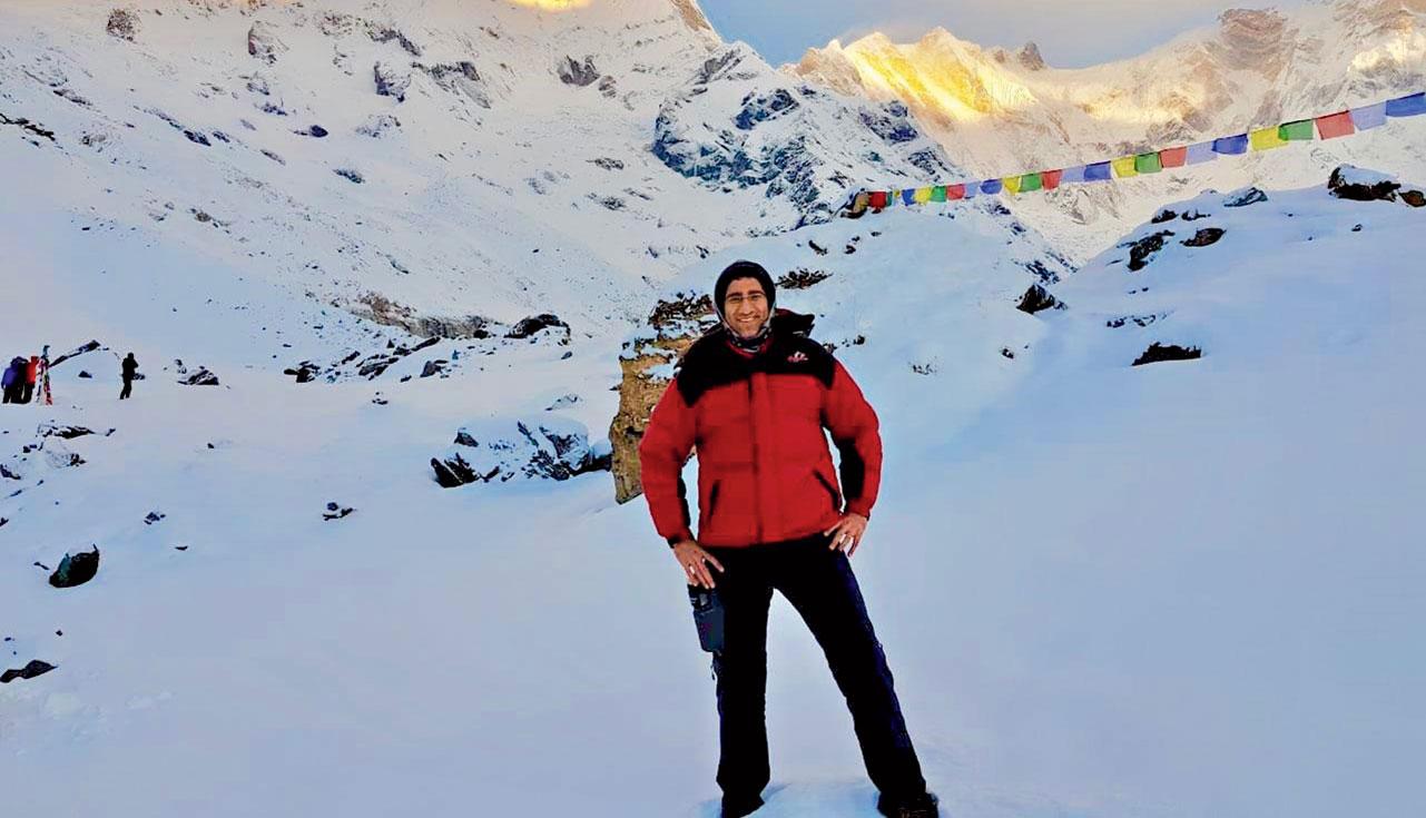 The author at the Annapurna Base Camp