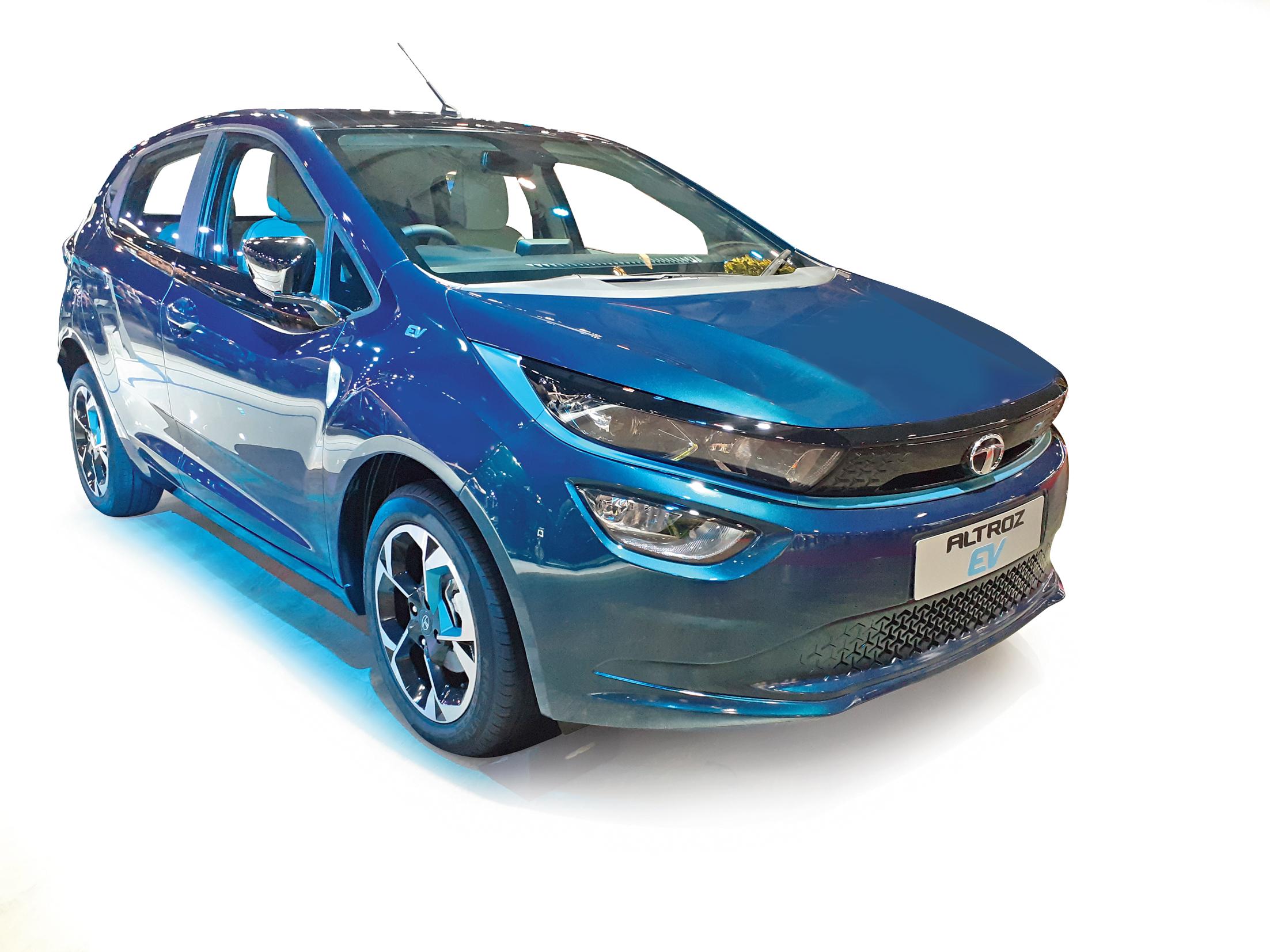 The Tata Altroz EV at Auto Expo 2020
