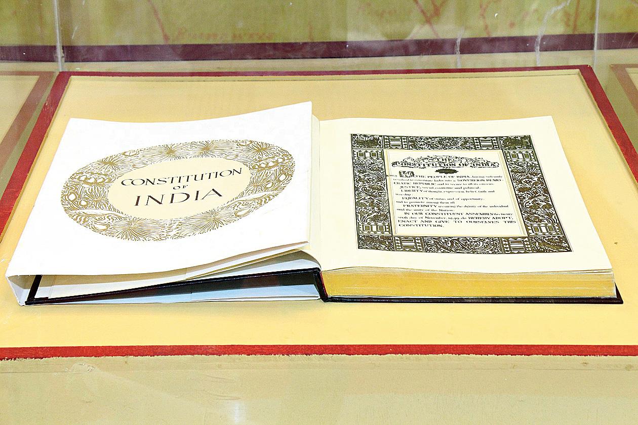 A copy of the original Constitution of India