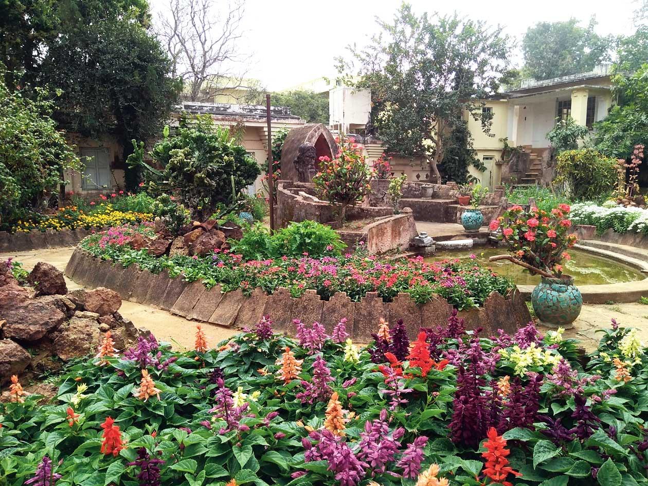 The Japanese garden next to Udayan house at Visva-Bharati.