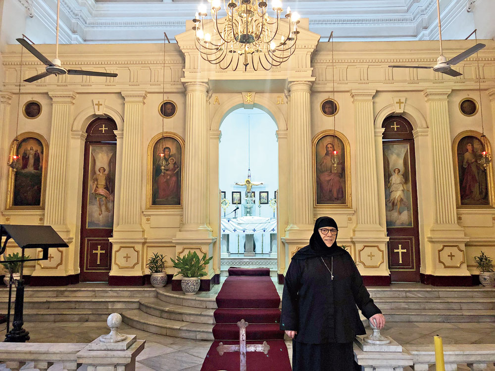 Ground reality: Sister Nectaria at the Greek Orthodox Church
