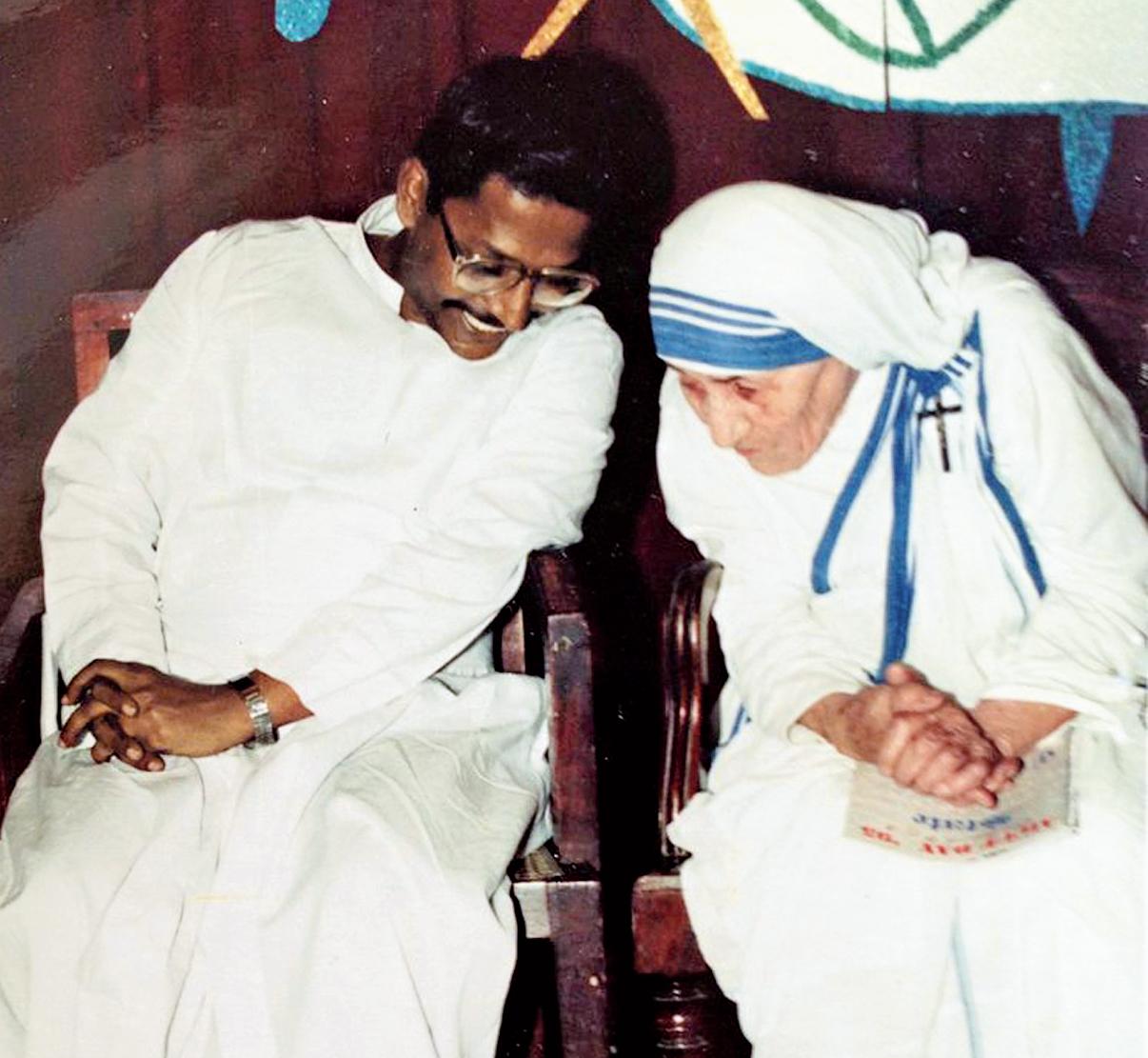 J. Felix Raj, SJ, with Mother Teresa