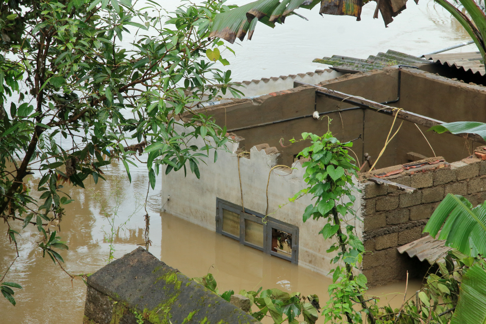 A house destroyed in the recent Kerala flood