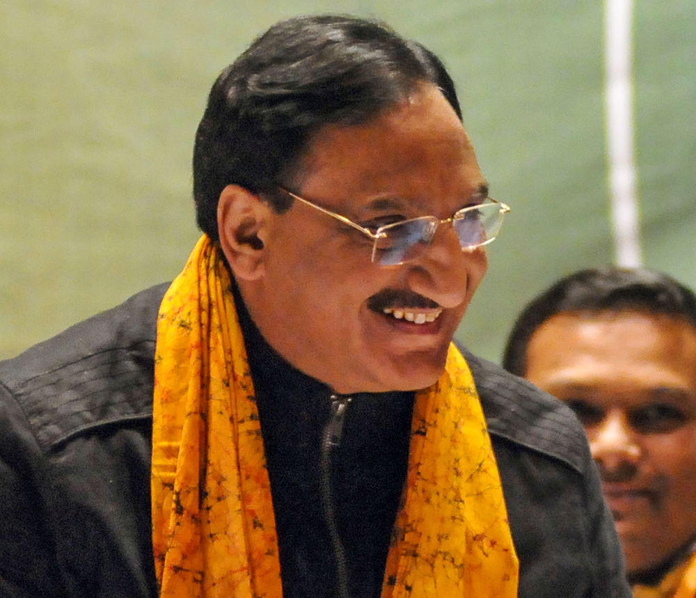 Ramesh Pokhriyal Nishank, the Union human resource development minister. He has claimed that the Narendra Modi government is working day and night for the welfare of students