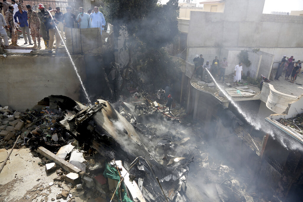 Pakistan plane crash: Two reported survivors out of 98 on board