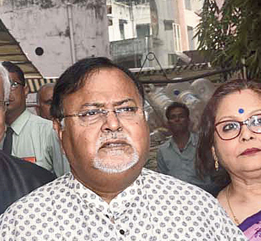 Education Minister Partha Chatterjee at AMRI Dhakuria on Wednesday