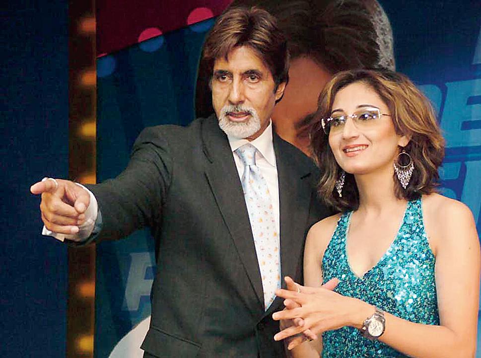 Gitikka with Amitabh Bachchan.