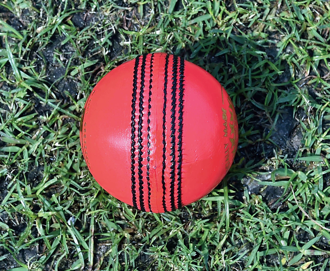 The pink ball in Eden on Sunday.