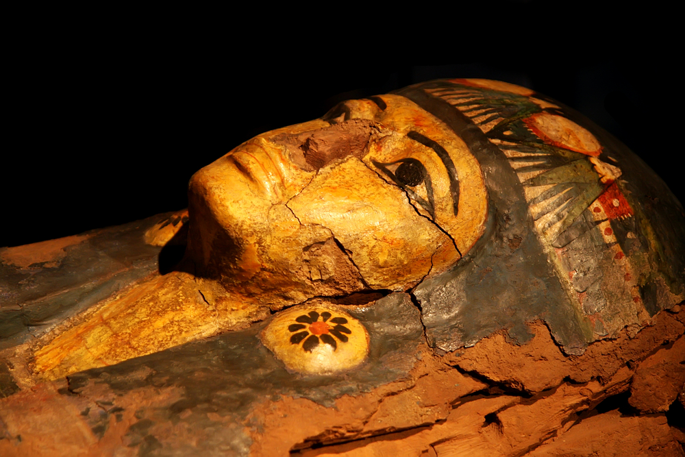 The exhibition features a group of mummies and artefacts on loan from 12 world-renowned museums