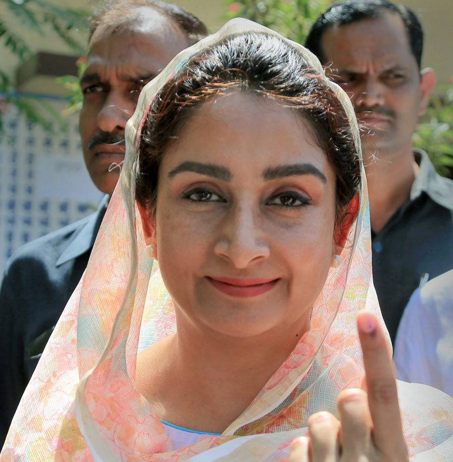 Shiromani Akali Dal candidate Harsimrat Kaur Badal