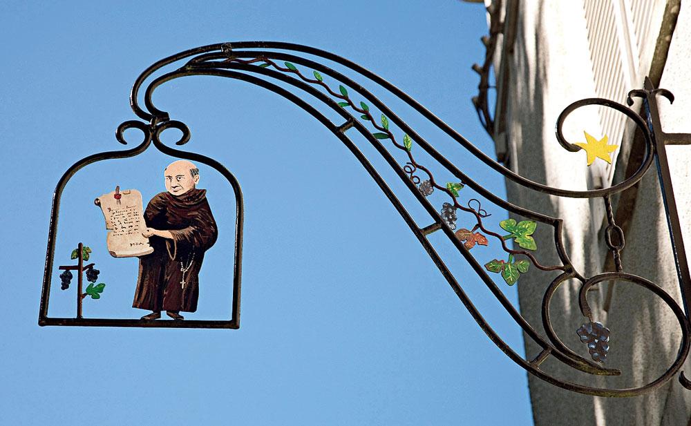 A Benedictine sign in Hautvillers