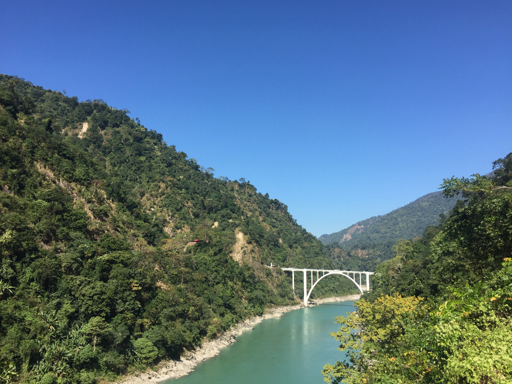 The Coronation Bridge over River Teesta, a popular tourist site in Siliguri. Travel agents, hotels and transporters are finding it tough to pay salaries there due to the novel coronavirus.