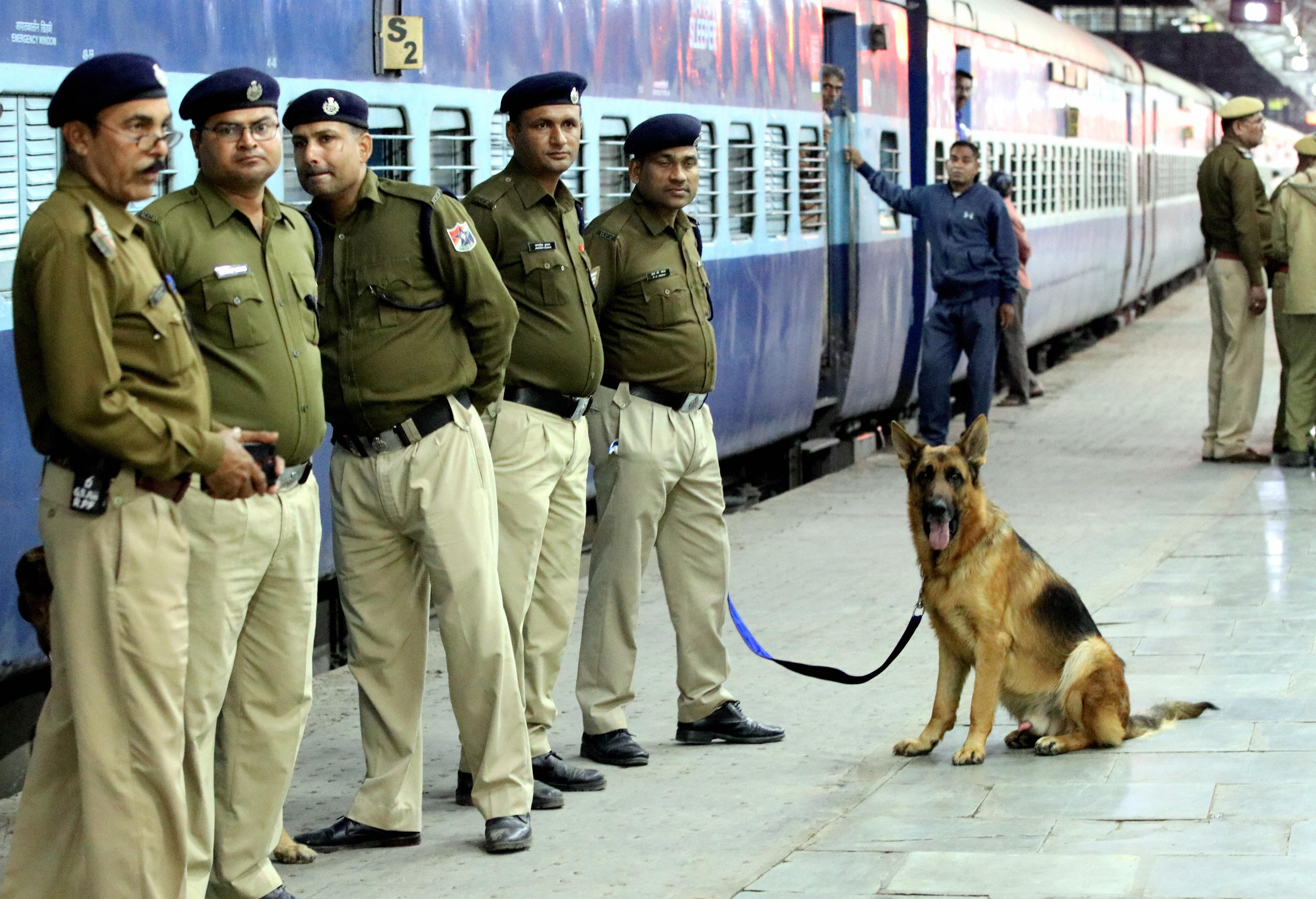 Enhanced security at Ajmer Railway station during the arrival of Pakistani pilgrims to take part in 808th Urs festival of Khwaja Moinuddin Chishti, in Ajmer