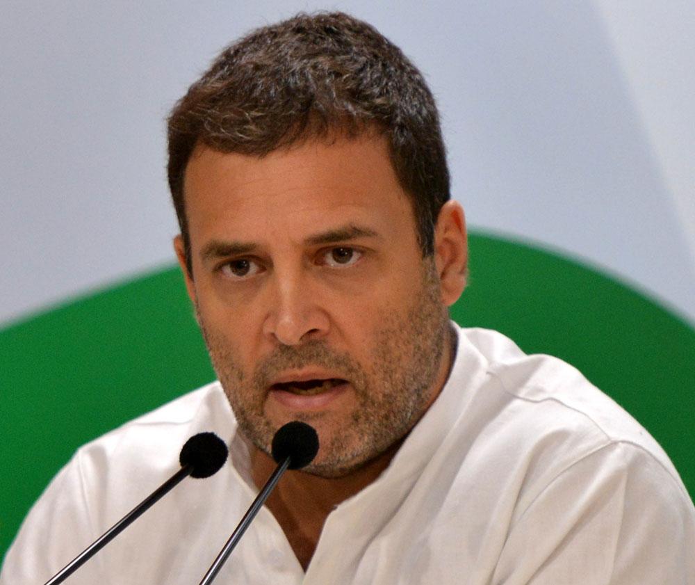 Congress president Rahul Gandhi: Be vigilant
