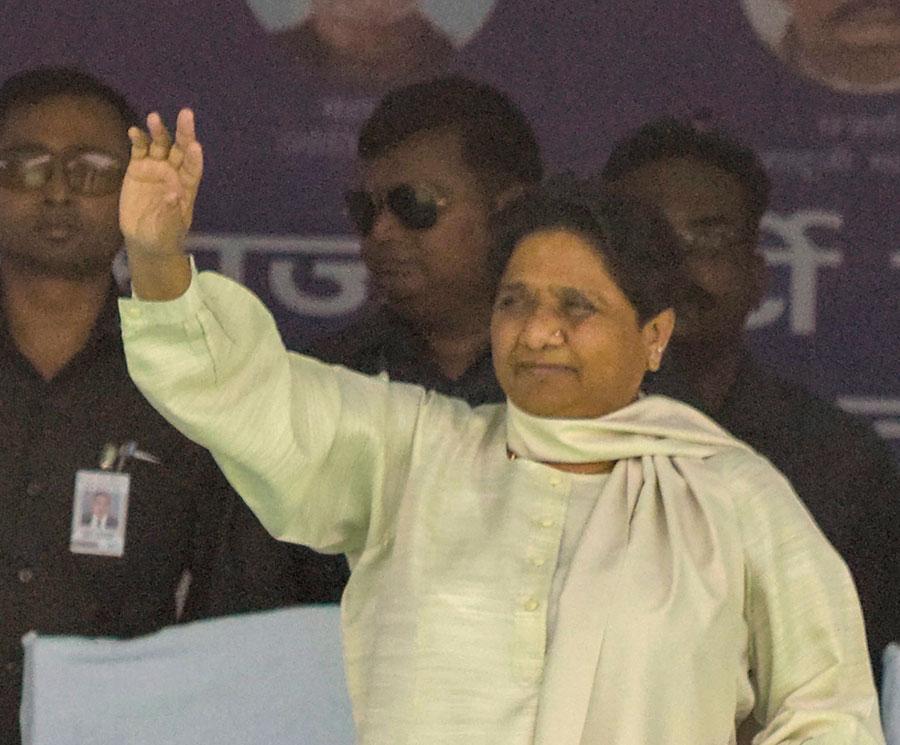 BSP chief Mayawati at an election campaign rally in Gorakhpur district of Uttar Pradesh, Monday, May 13, 2019.