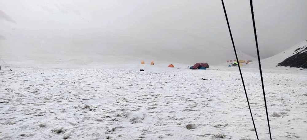 Dhunda camp site at 13,500ft — the last stop before the team started for the Buran Ghati pass