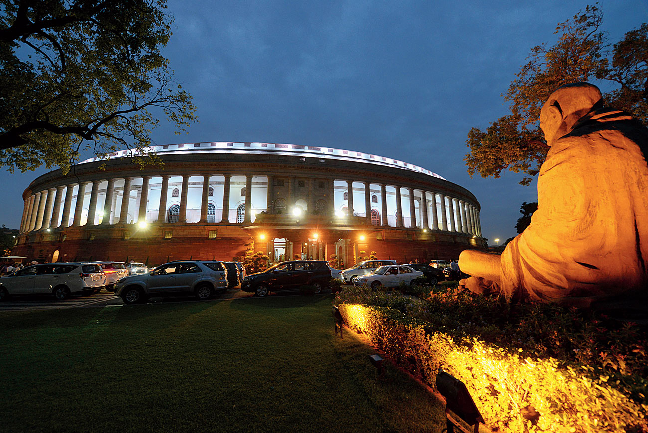 A view of the Parliament House on Tuesday.