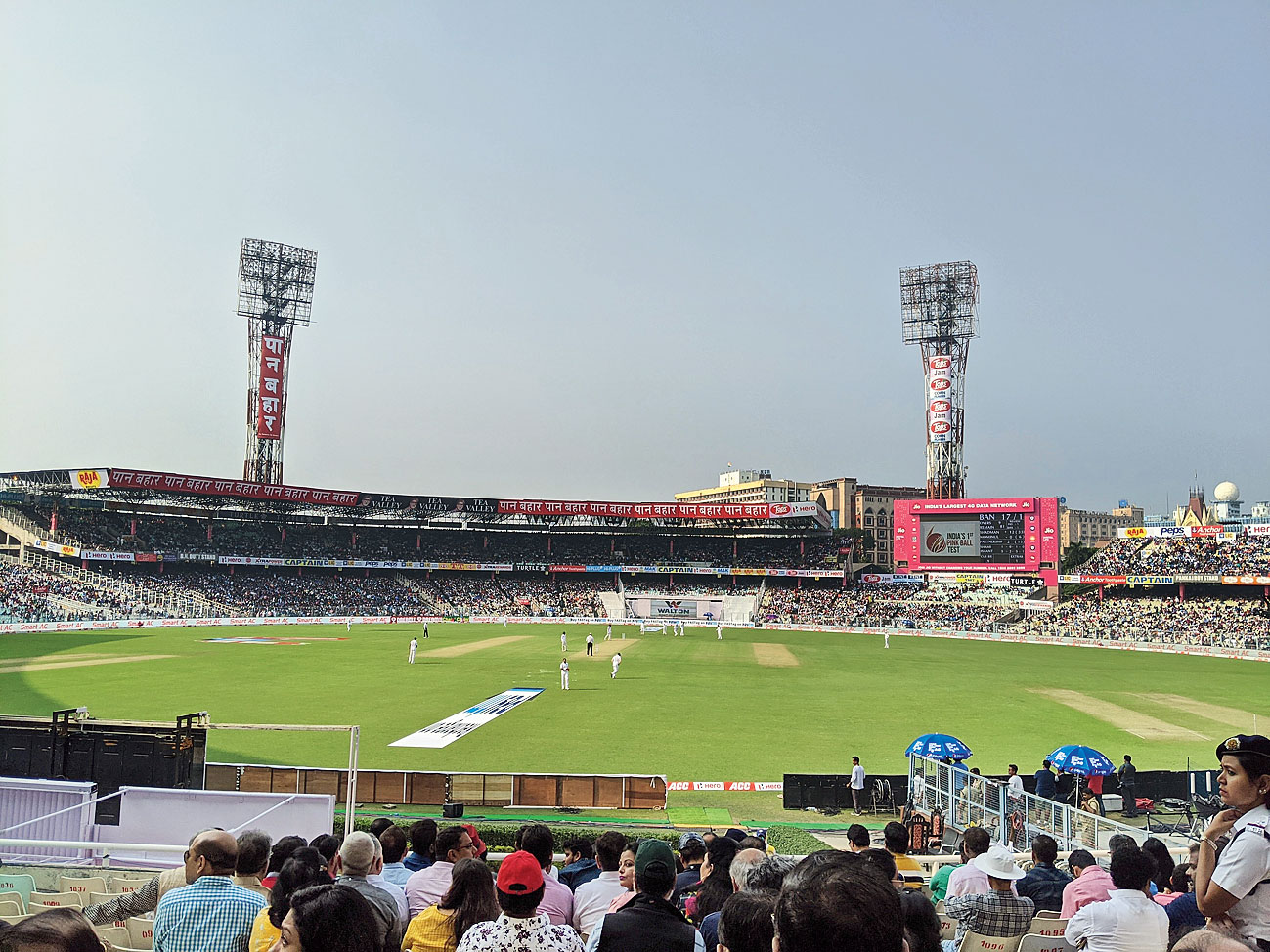 Picture of the Eden match taken by Nick Low on Day 1