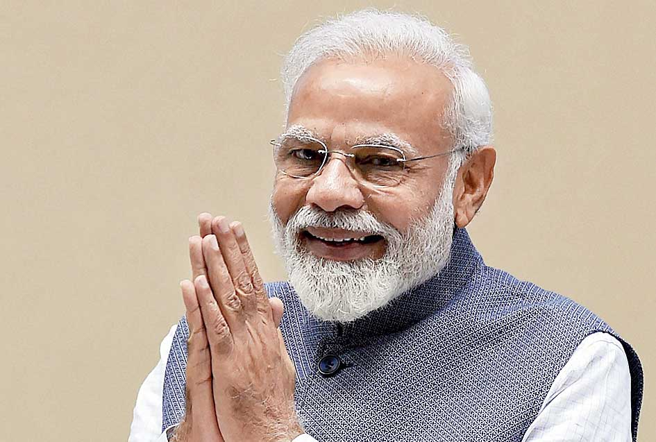 Narendra Modi in New Delhi on Saturday.