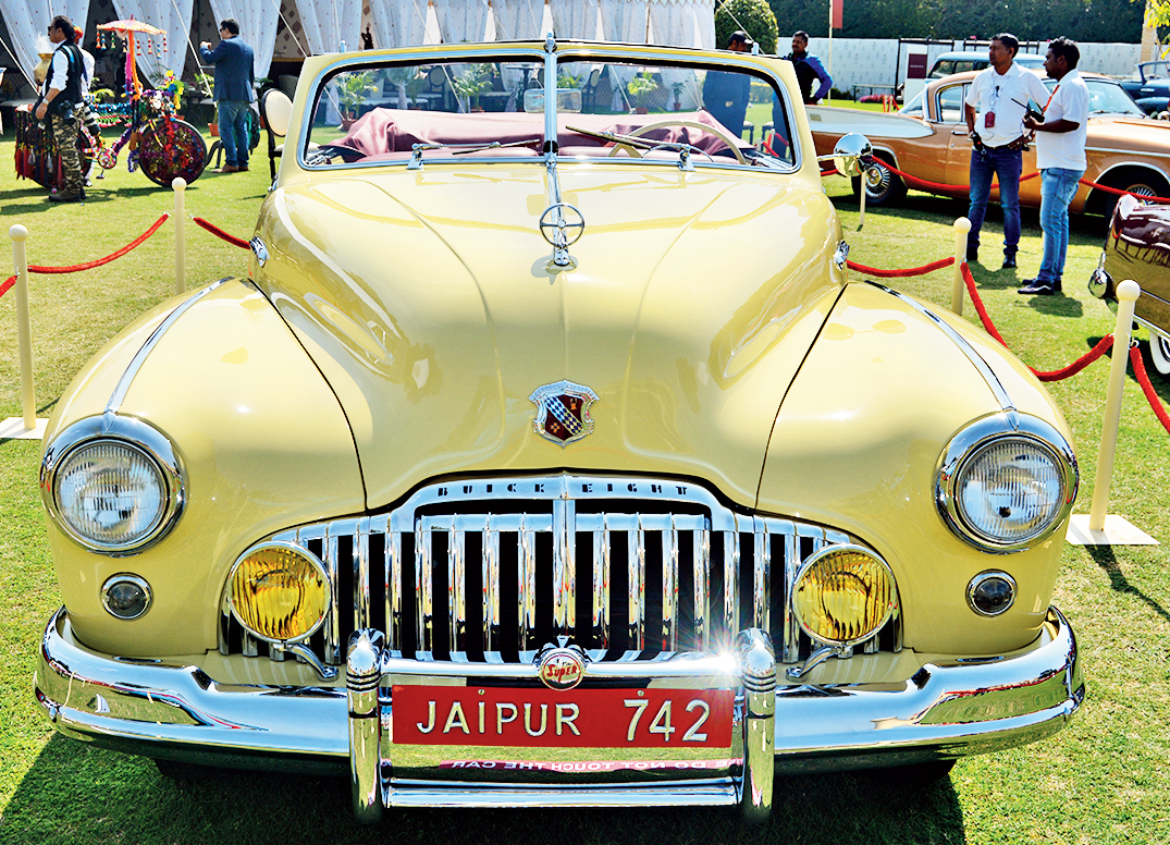 Once a Jaipur royal family car, this 1946 Buick Super 8 is now with Dinesh Lal from Mumbai, who has restored it to its original paint shade and upholstery. It was judged the best Post-War American Classic.