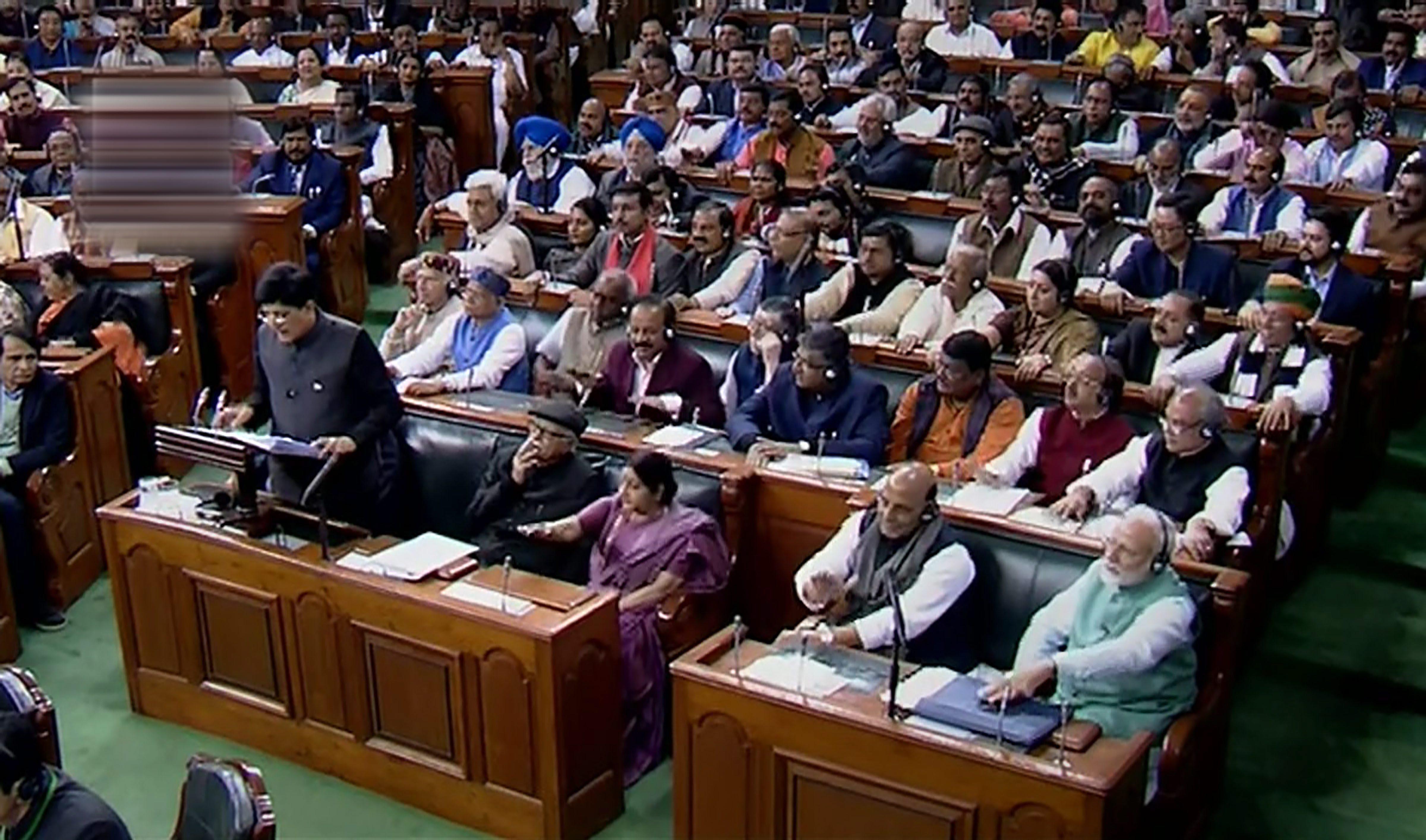 The Lok Sabha during the budget presentation on February 1.