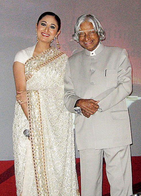 Gitikka with A.P.J. Abdul Kalam.