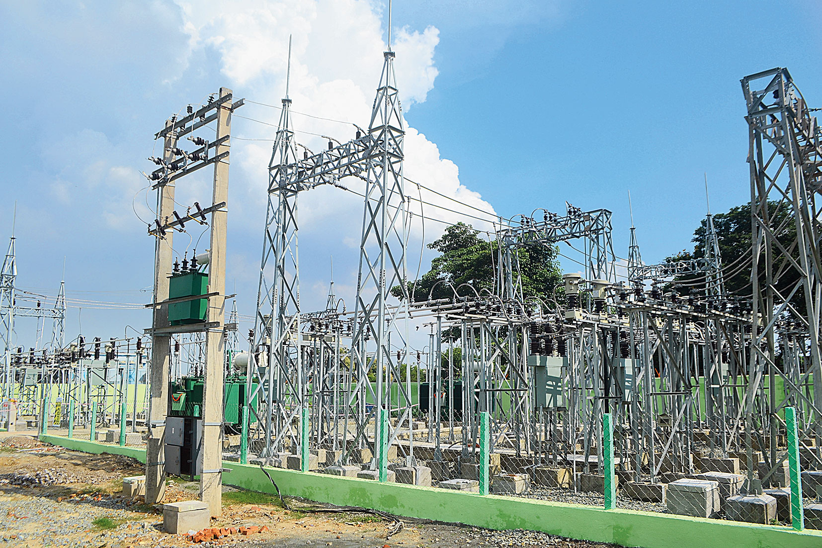 A newly set up power substation of the JBVNL at Domuhani in Jamshedpur on Sunday.
