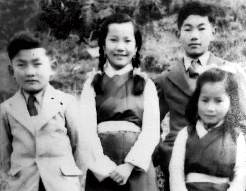 (From left) TN Pemba, Norzin Norbhu,TY Pemba and Norden Dagyab in Gangtok in 1947