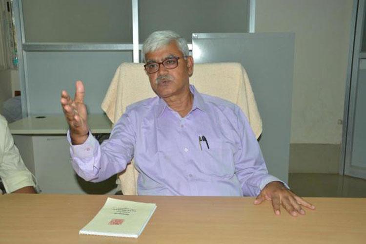 Visva-Bharati vice-chancellor Bidyut Chakrabarty