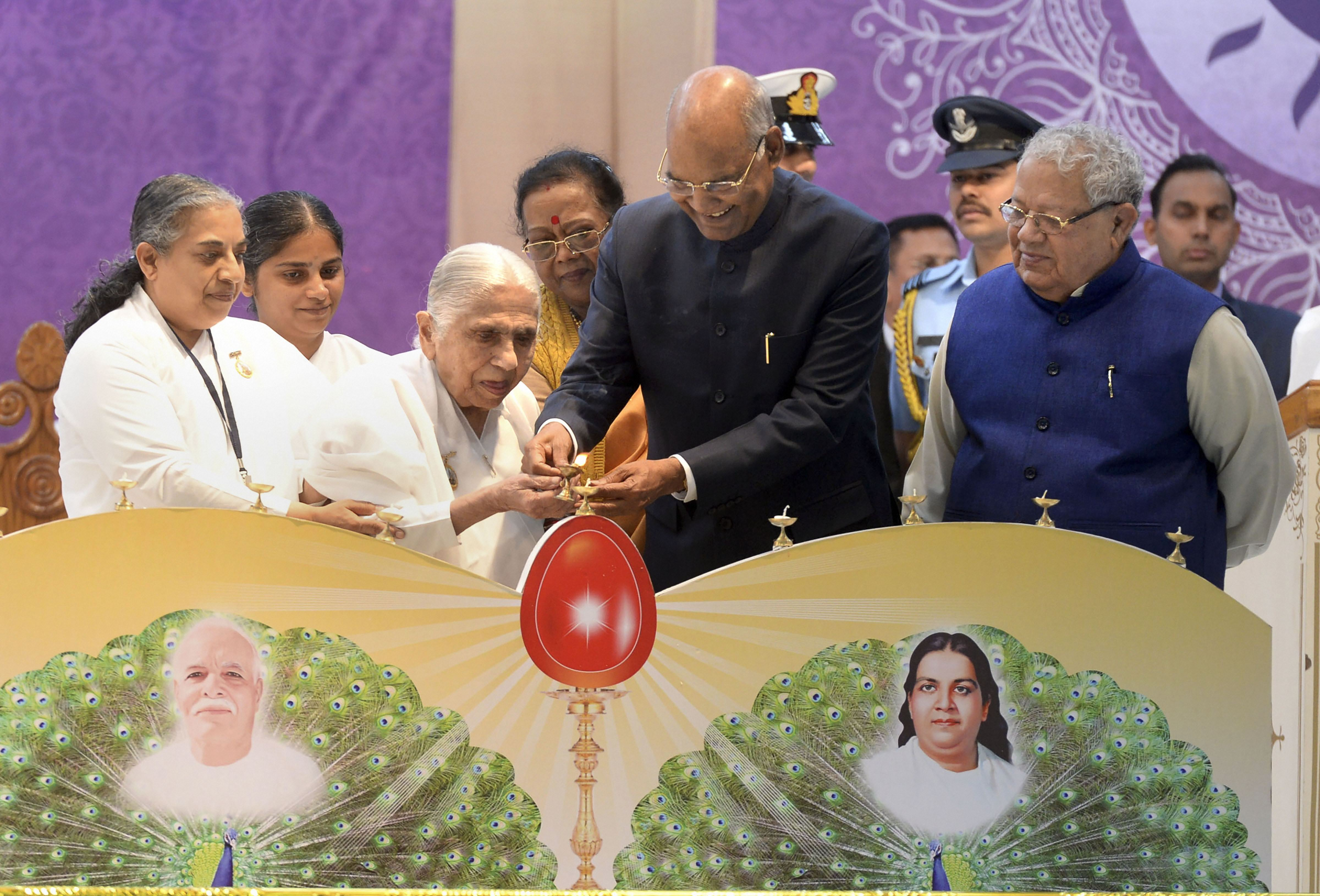 President Ram Nath Kovind at a national convention on 'empowerment of women for social transformation' at the headquarters of Brahma Kumaris in Mount Abu, Rajasthan, Friday, December 6, 2019.