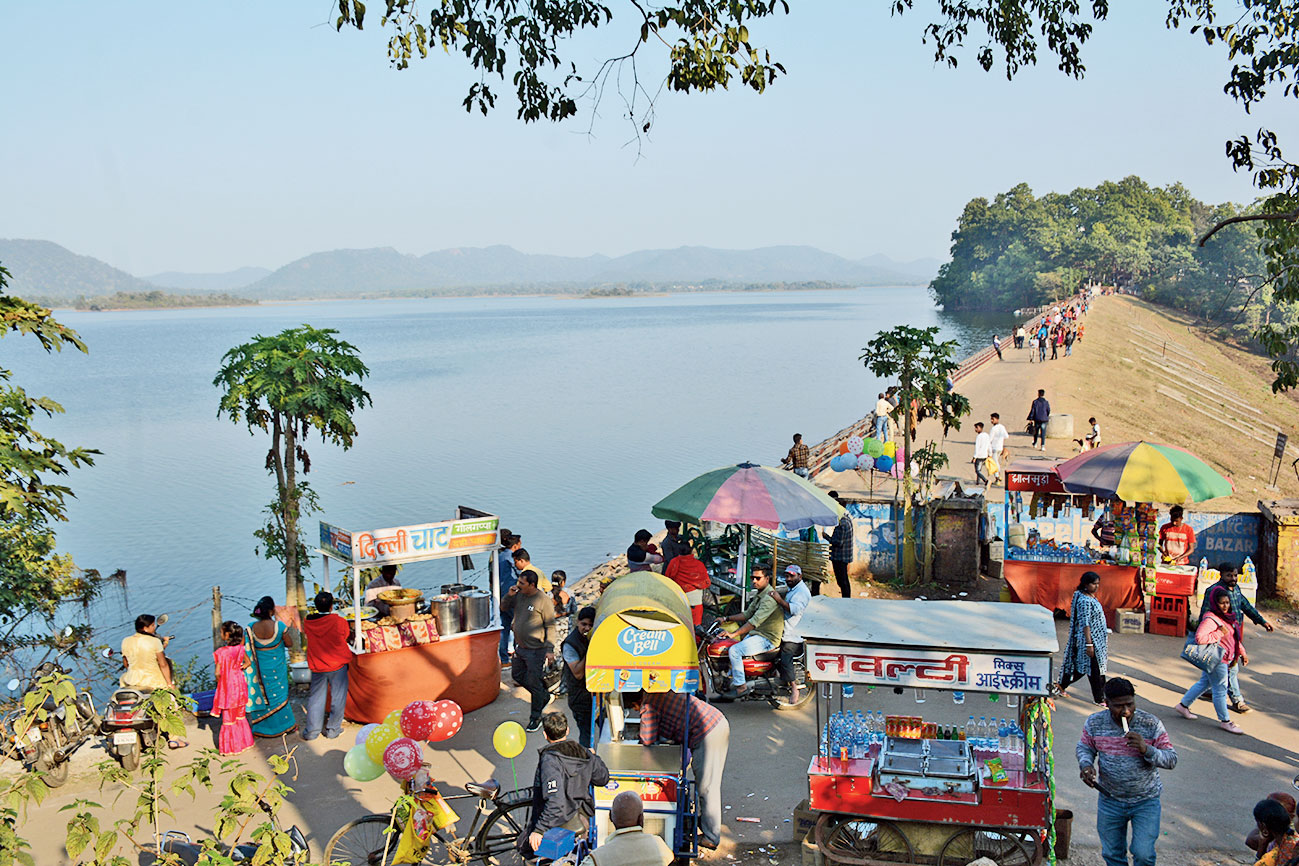 Dimna Lake in Jamshedpur on Tuesday.