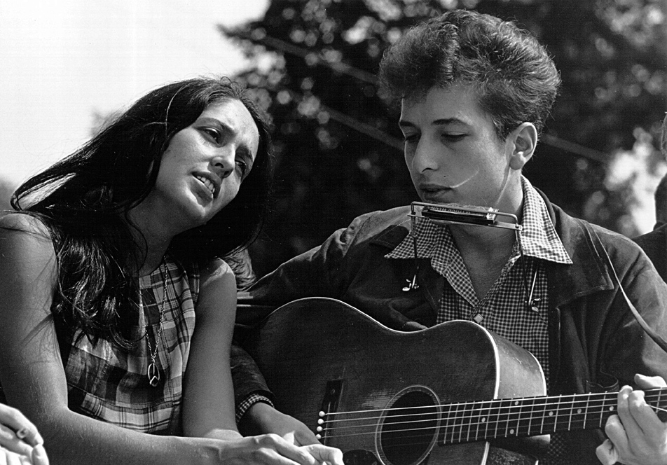 Joan Baez and Bob Dylan, Civil Rights March on Washington, D.C.