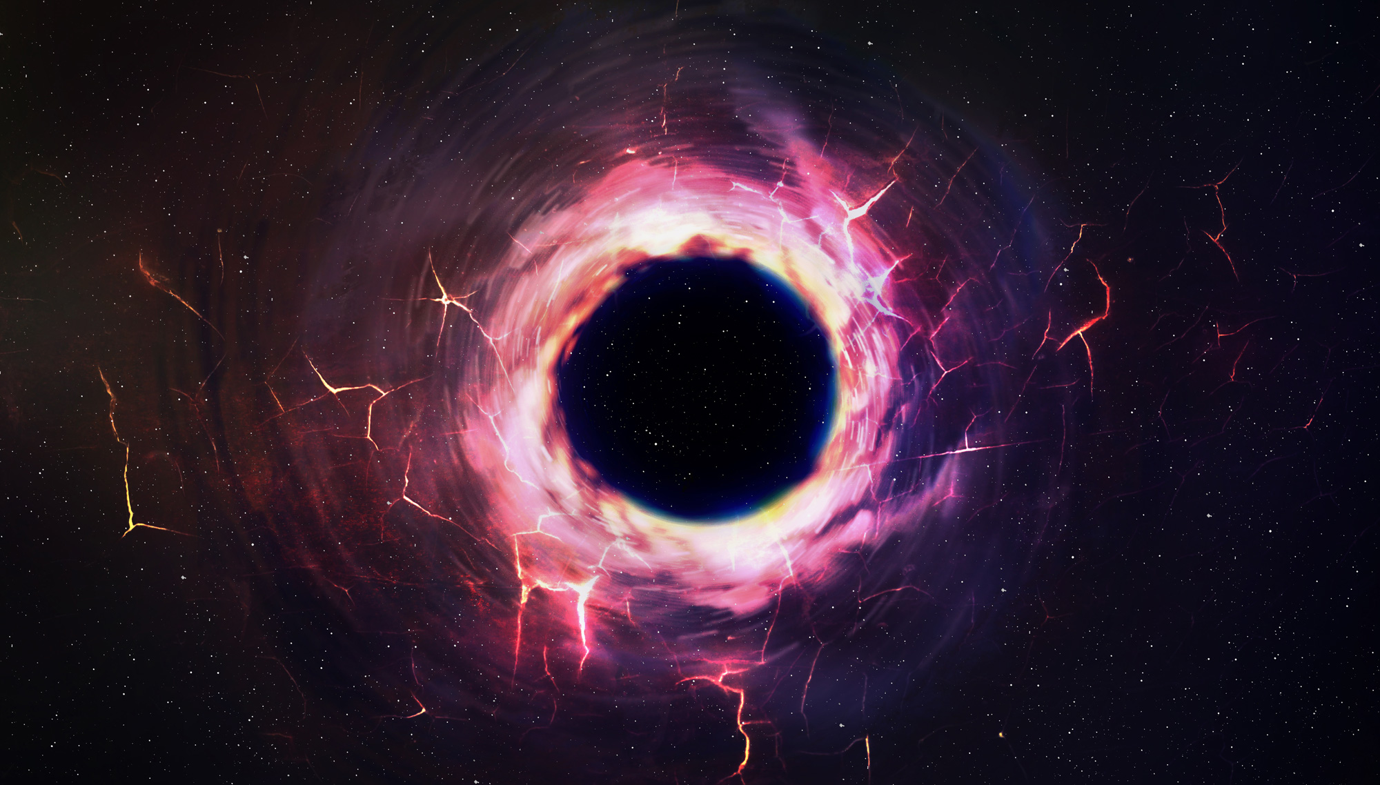 A black hole is captured.