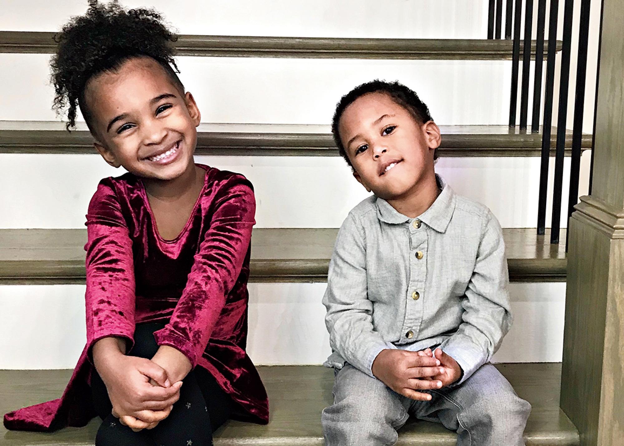 Samia Ali, 4, with her brother Zayn, 2.