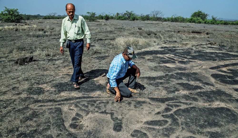 Sudhir Risbud (left) and Dhananjay Marathe at one of the sites in Maharashtra