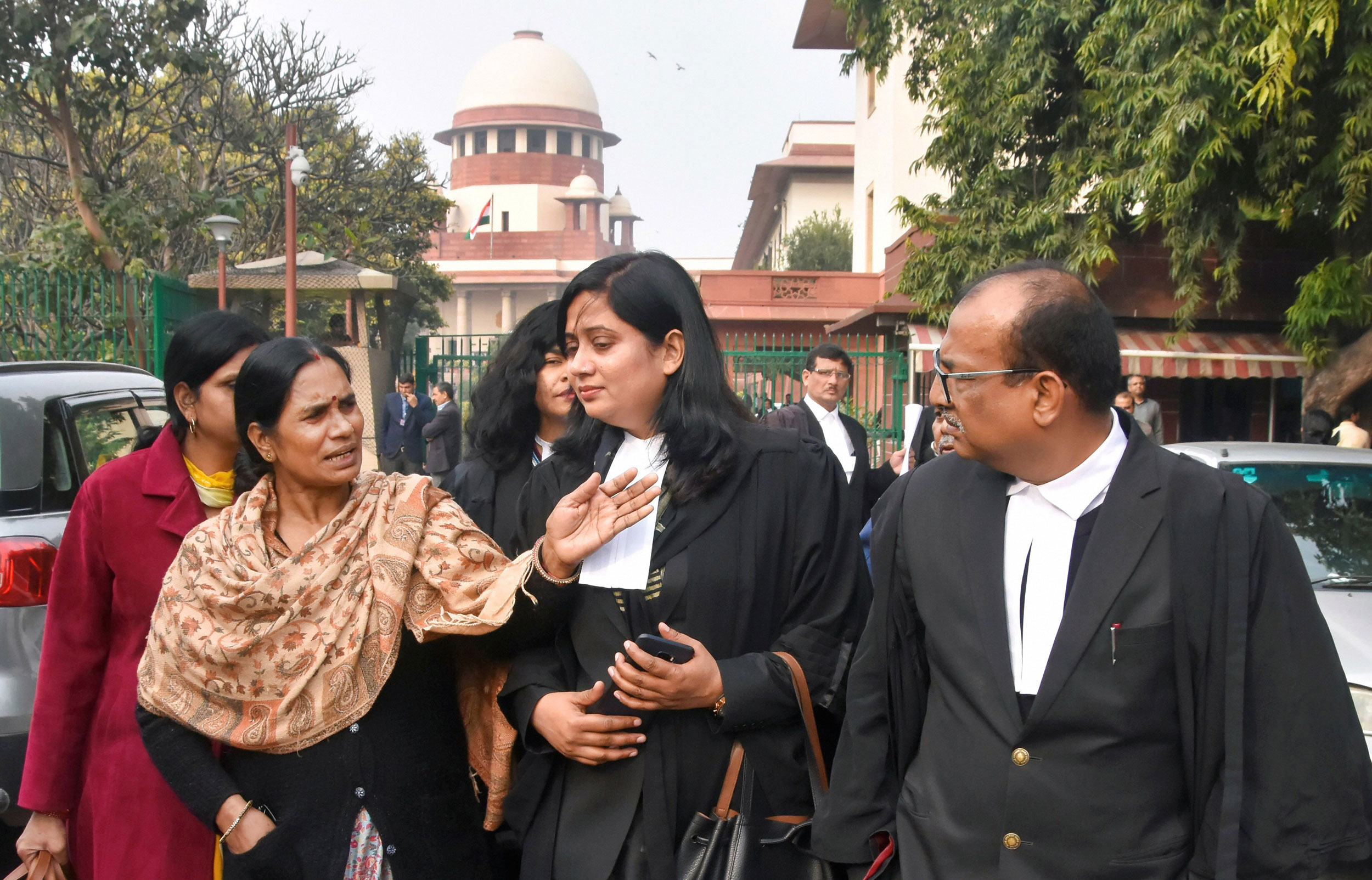 2012 Delhi gang rape victim's mother, Asha Devi, at the Supreme Court in New Delhi on Tuesday.