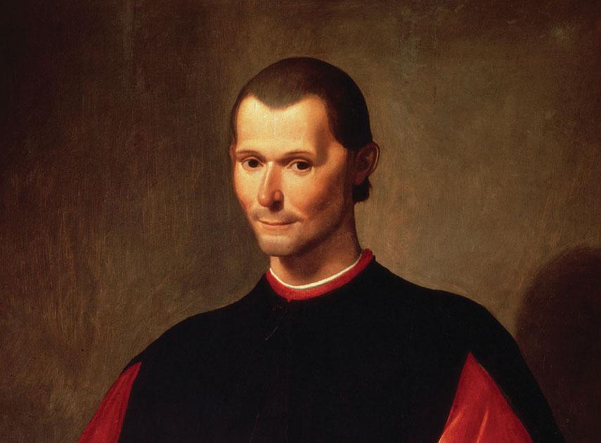 A portrait of Niccolò Machiavelli, the 16th-century statesman and political theorist, by Santi di Tito
