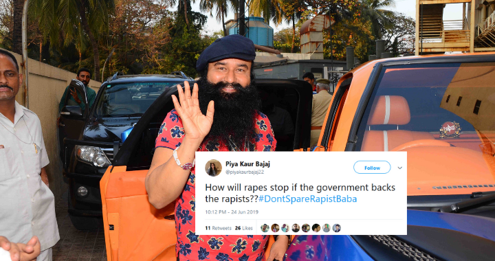 #DontSpareRapistBaba is trending on Twitter after reports that Gumeet Ram Rahim may be granted parole.