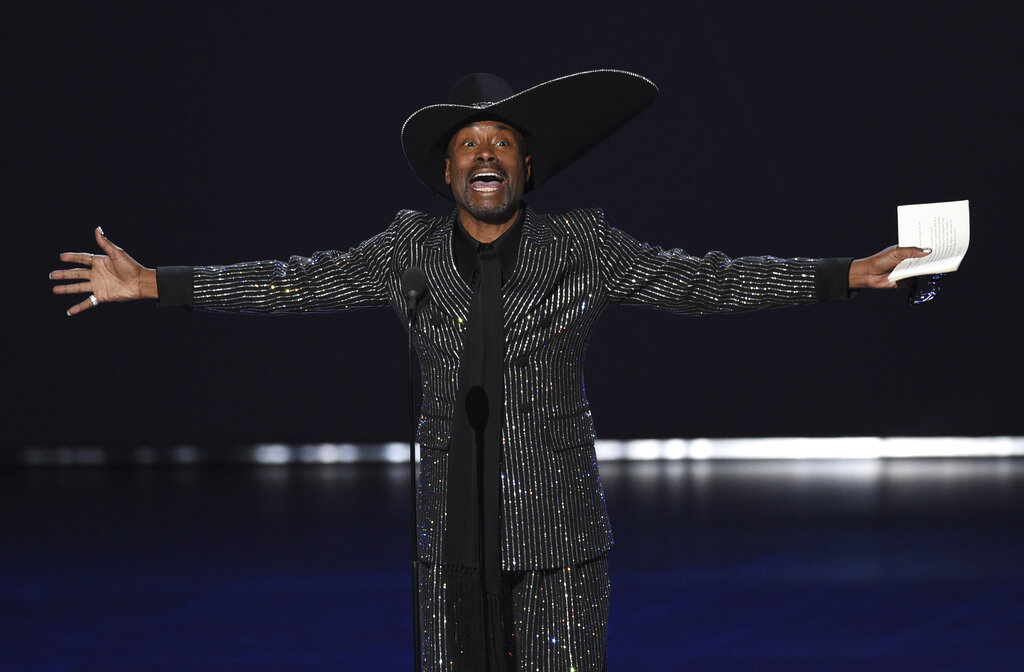 Actor Billy Porter accepts the award for outstanding lead actor in a drama series for