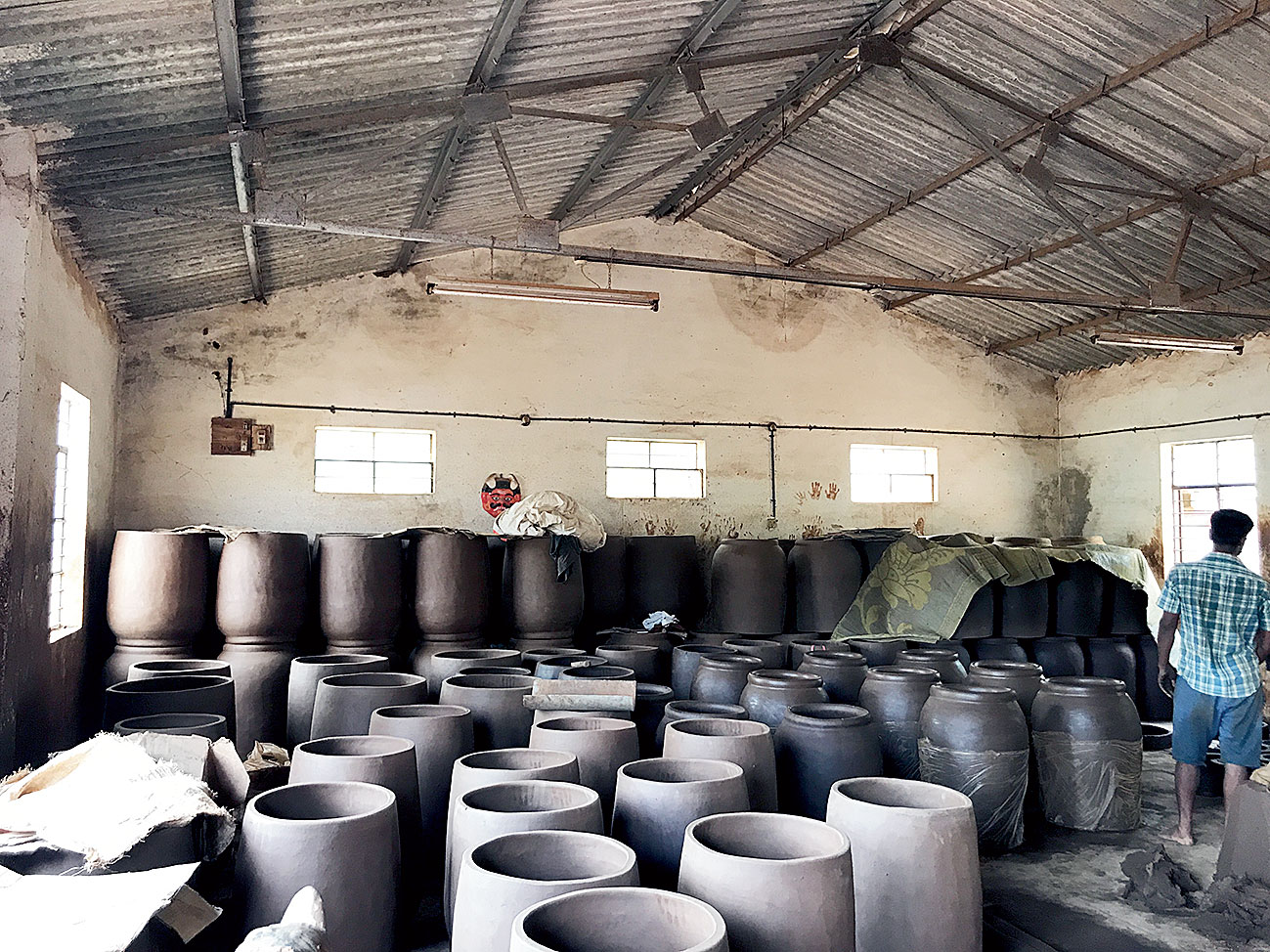 The family-owned pottery