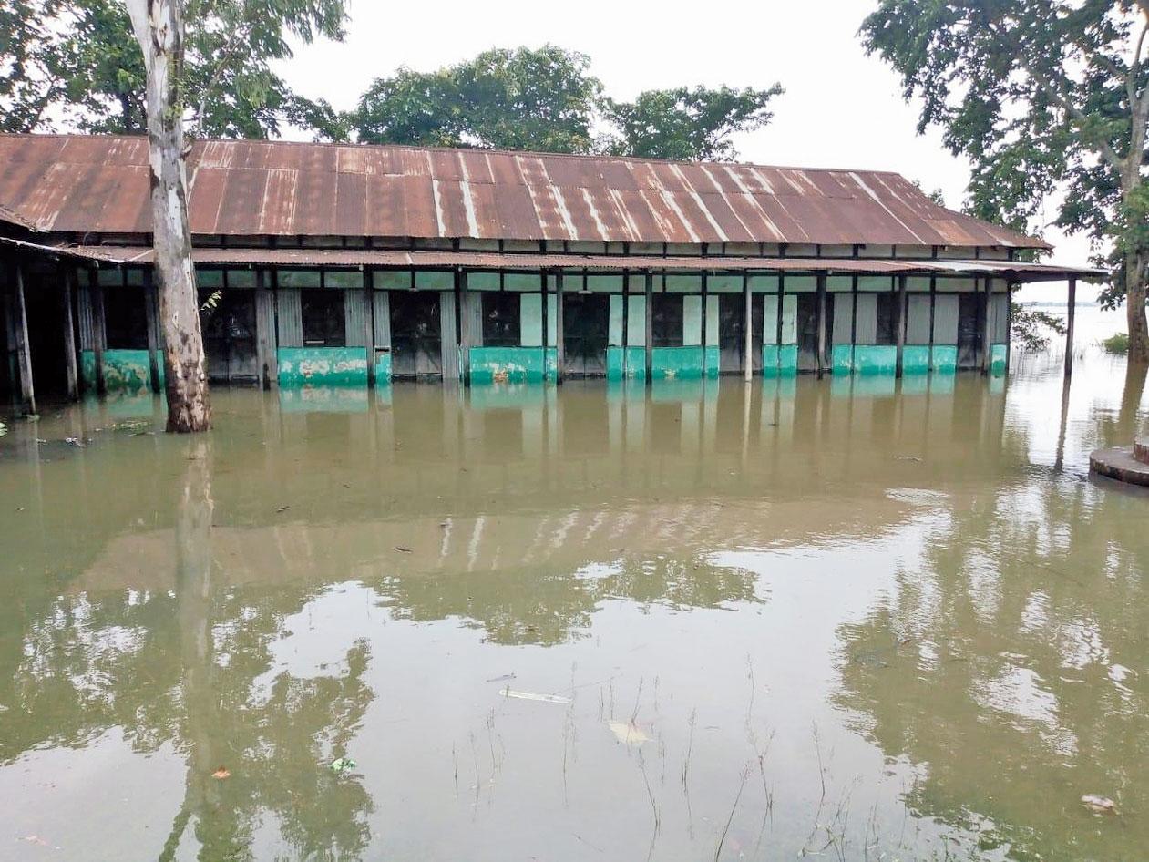 An inundated area in West Garo Hills.