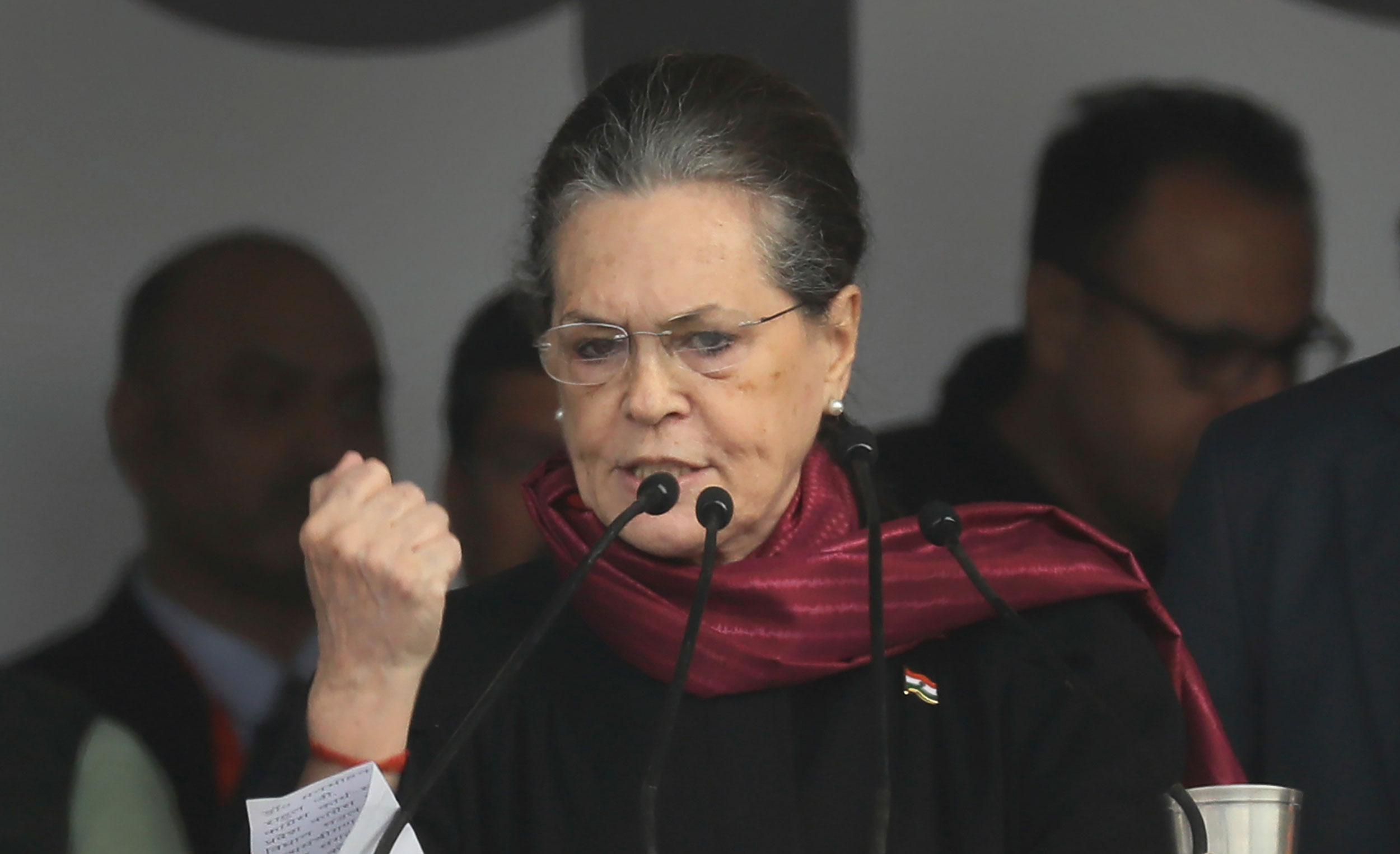 The meeting convened by Congress president Sonia Gandhi was attended by leaders of Opposition parties like NCP supremo Sharad Pawar, LJD chief Sharad Yadav, Left leaders Sitaram Yechury and D. Raja,
