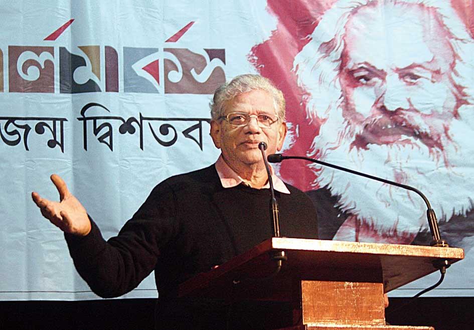 Yechury in Calcutta on Sunday.