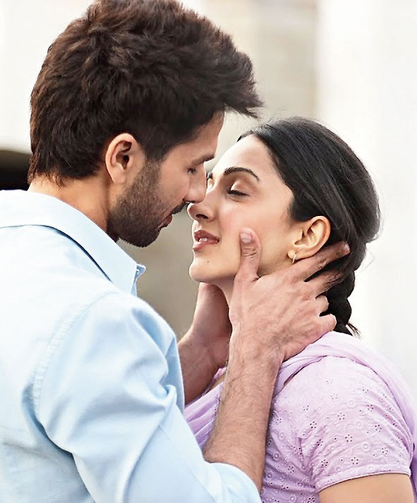 Shahid Kapoor and Kiara Advani in 'Kabir Singh'