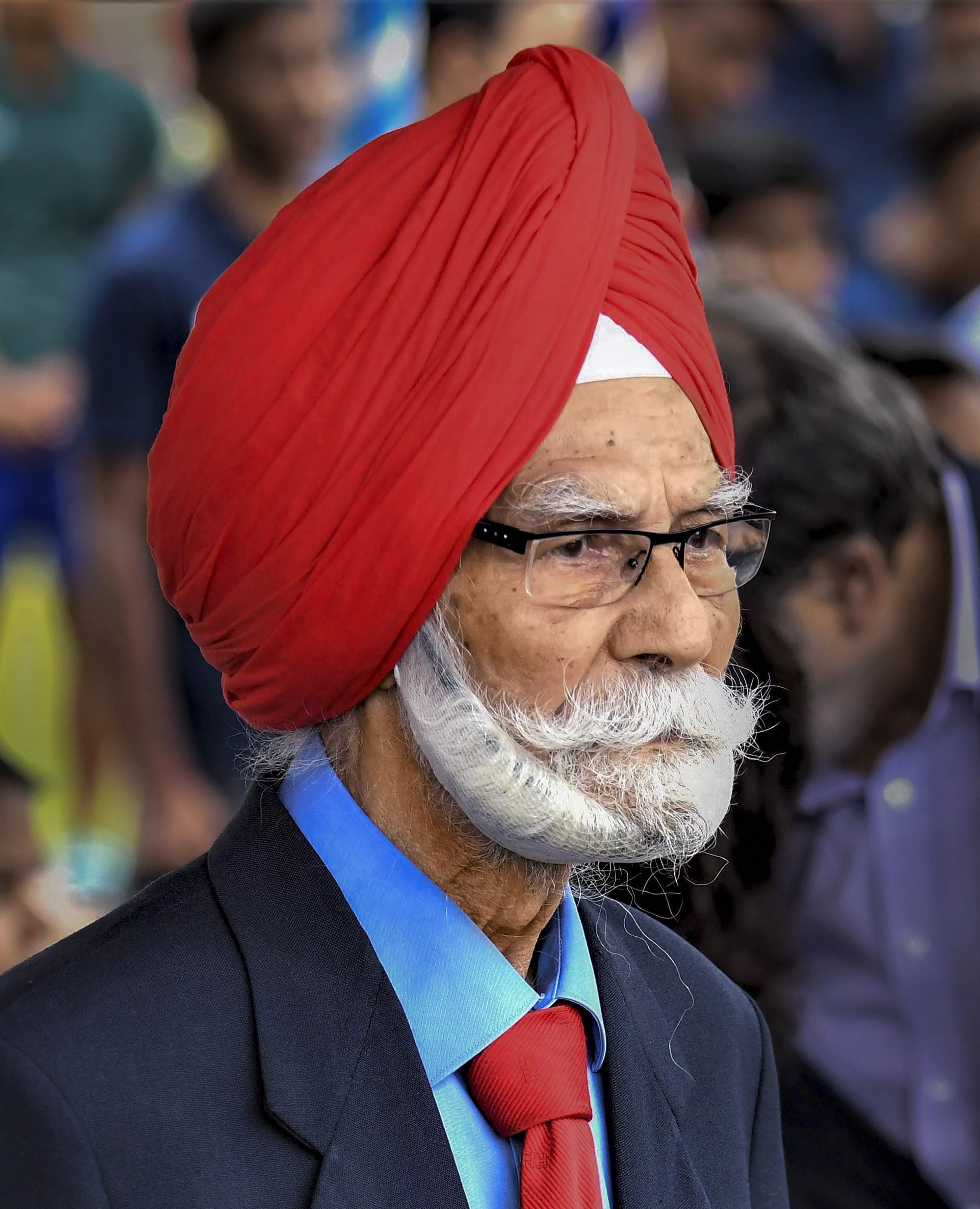 In this Wednesday, August 15, 2018 file photo, three-time Olympic gold medalist hockey veteran Balbir Singh Sr. at the launch of the Inspire Institute of Sport, in Vijayanagara, Bellary. Singh, died on Monday, May 25, 2020, after battling multiple health issues.