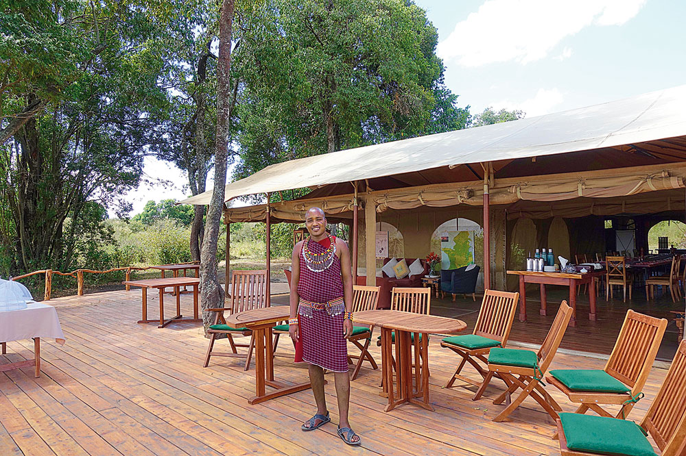 The balcony of Asilia's Rekero camp is perhaps one of the best locations in Mara, overlooking the Talek River