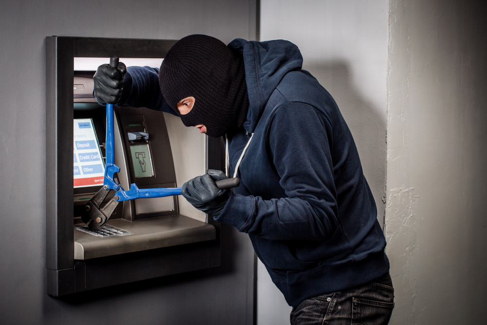 The CCTV footage showed that at 3.57am, the accused broke the CCTV camera in the kiosk. After that, he started breaking the ATM machine. After trying to break open the money chest for 10 minutes, he failed and left the kiosk