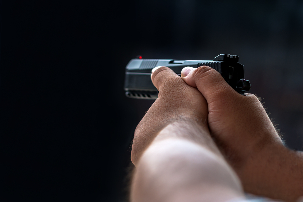 (Representative image) Qasim said the shooter was trying to reload his gun to shoot him again but he head-butted his attacker and escaped as the man fell
