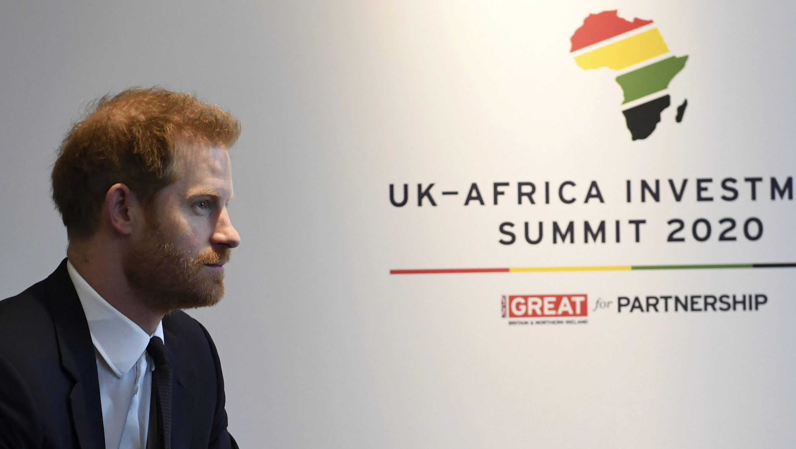 Prince Harry meets with Prime Minister of Morocco Saadeddine Othmani at the UK Africa Investment Summit in London, Monday January 20, 2020