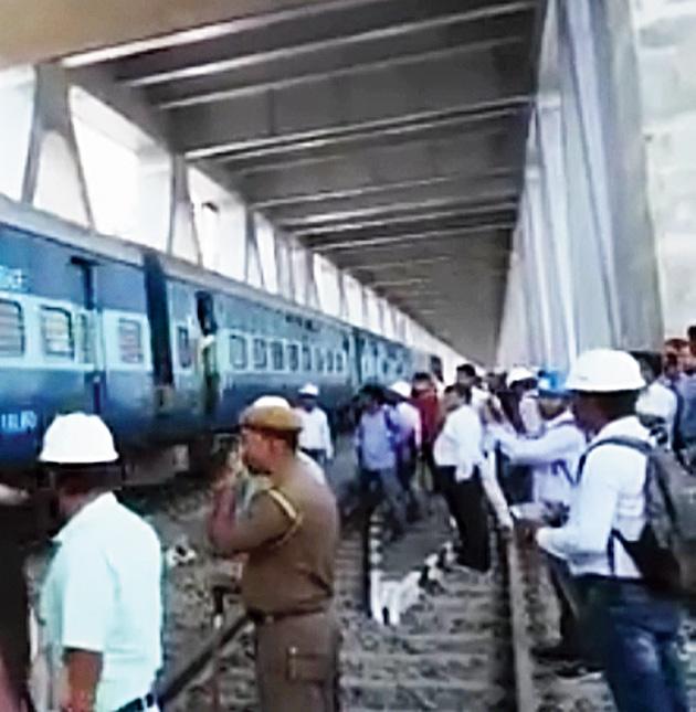 1st train tests Brahmaputra's Bogibeel bridge